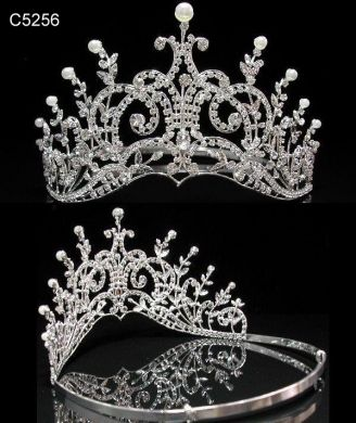 Leaey-Spray Tiara 1905 English Crown Pearl Bridal