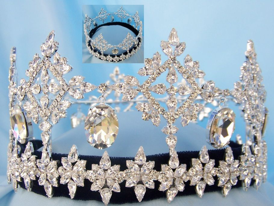 Global Beauty Queen Rhinestone Full Round Crown