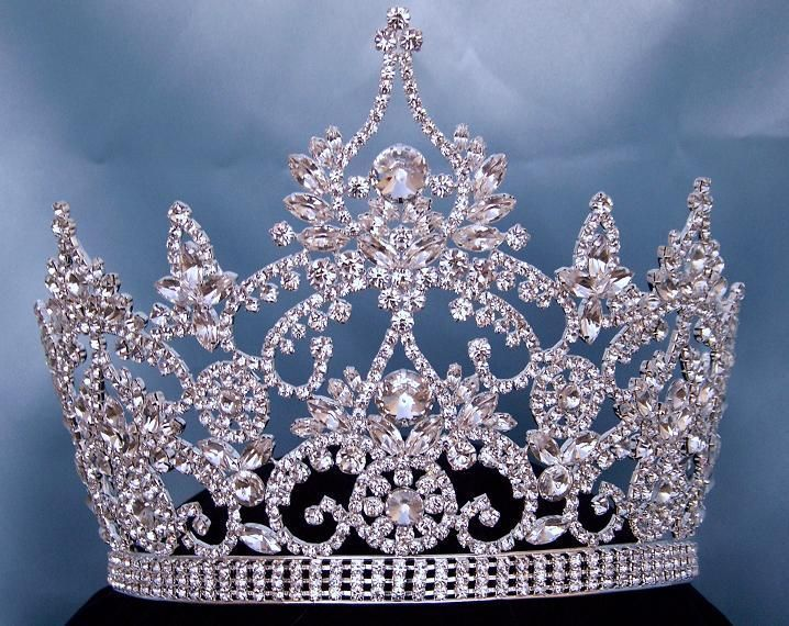 Continental Adjustable Rhinestone Crown Tiara